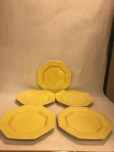 Lot 5 dinner plate. Vintage Independence Ironstone Interface JAPAN yellow NIKKO - $46.52