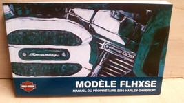 2016 Harley New Flhxse Cvo Street Glide French Owner's Manual 99577-16FR - $31.62