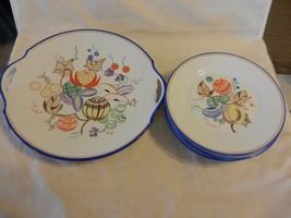 TK Thun Bohemia / Czechoslovakia  Set of 6 Dessert Plates with Round Pla... - $222.74