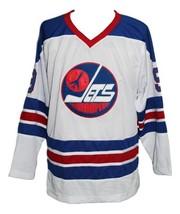Custom Name # Winnipeg Jets Wha Hockey Jersey New White Bobby Hull Any Size image 3