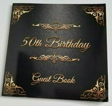50TH BIRTHDAY Year Guest Paperback Book NEW Celebration Milestone Party - $9.99