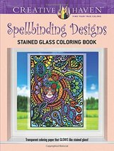 Creative Haven Spellbinding Designs Stained Glass Coloring Book (Creative Haven  image 1