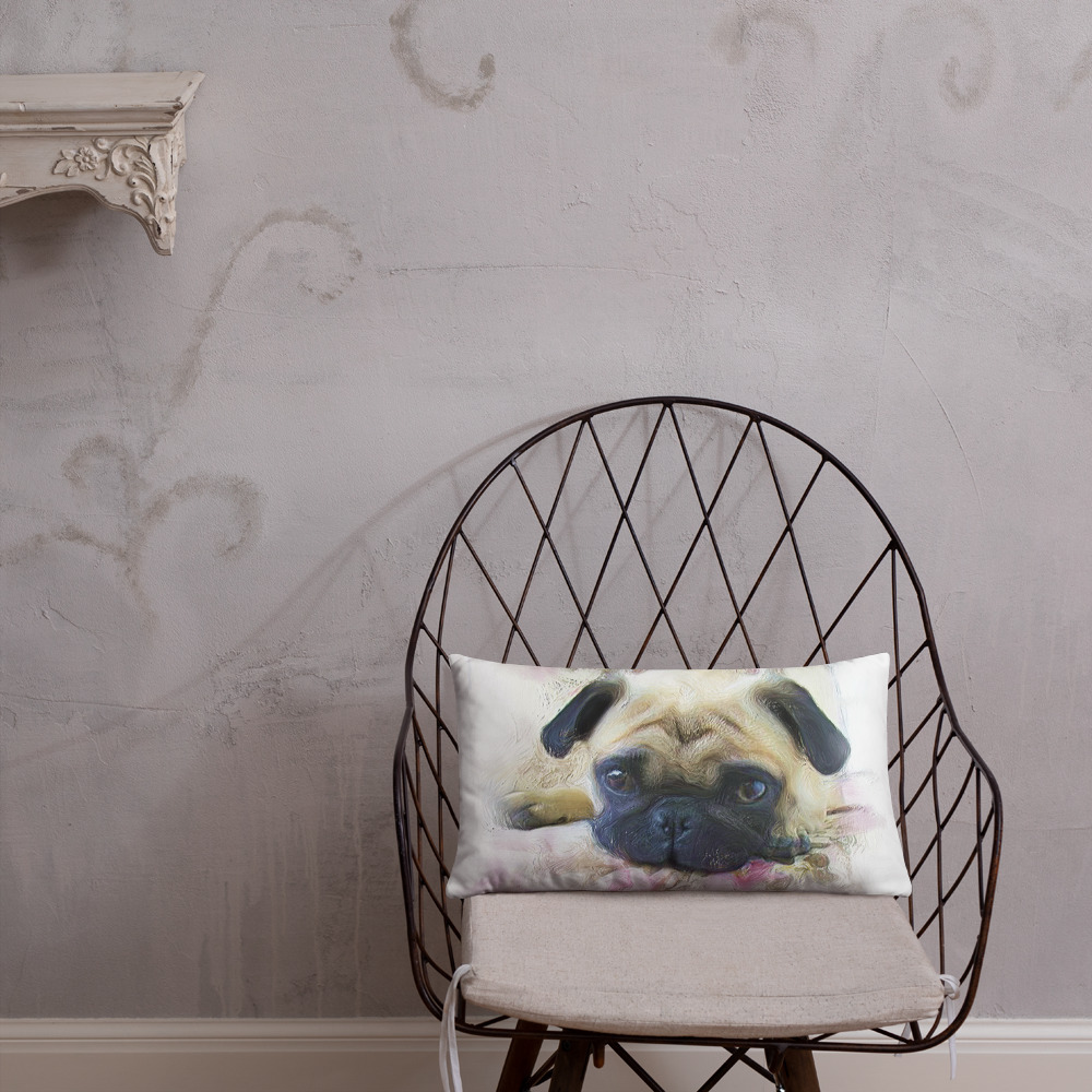 Primary image for Pink Pug Dog Home Decor Basic Throw Pillow