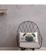 Pink Pug Dog Home Decor Basic Throw Pillow - $30.00+