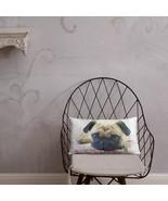 Pink Pug Dog Home Decor Basic Throw Pillow - $30.00 - $33.00