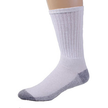 12 PAIRS AMERICAN MADE BRAND MEN'S CREW SOCKS WITH GRAY BOTTOM SIZE 13-15 - $20.48