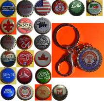Texas Rangers Baseball Coke Sprite Diet pepsi & more Soda beer cap Keychain