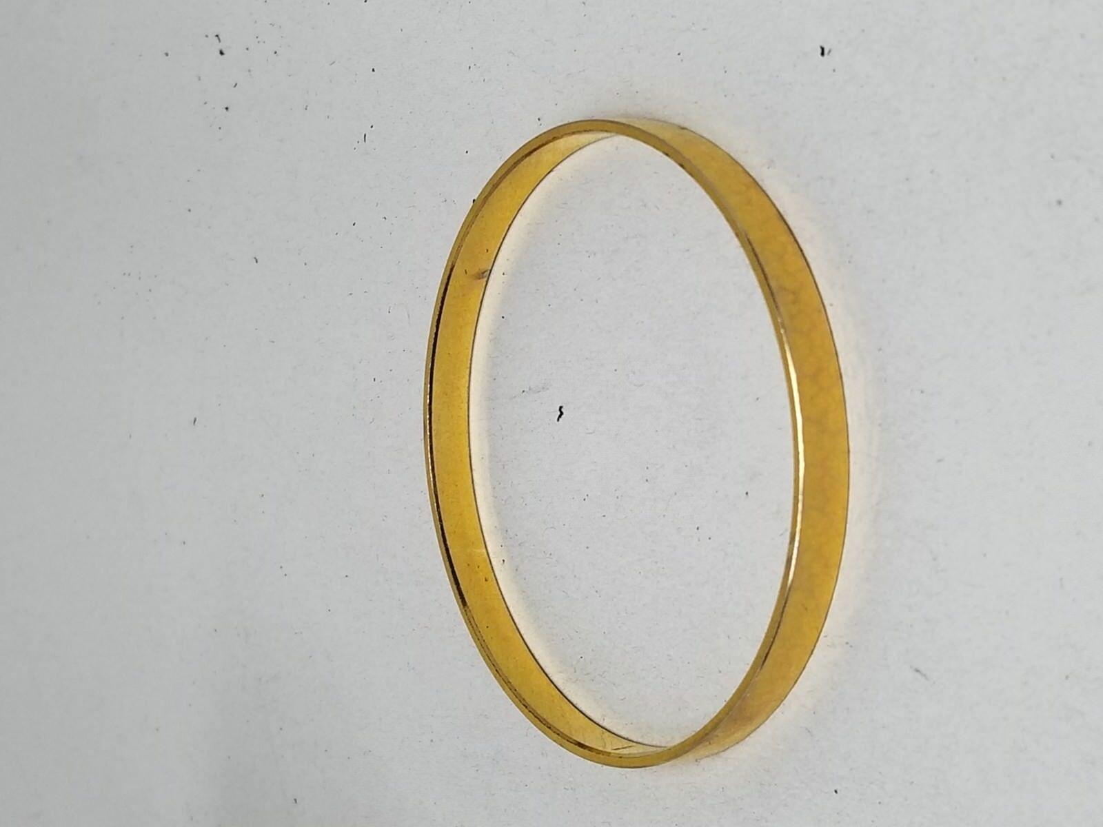 GERMANY Gold Tone Faceted Bangle Vintage Bracelet