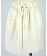 & Other Stories Off White Drawstring Skirt Knee Length Pencil Stretchy L... - $18.80