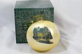 Thomas Kinkade Blessings Of Christmas Ball Ornament - $6.92