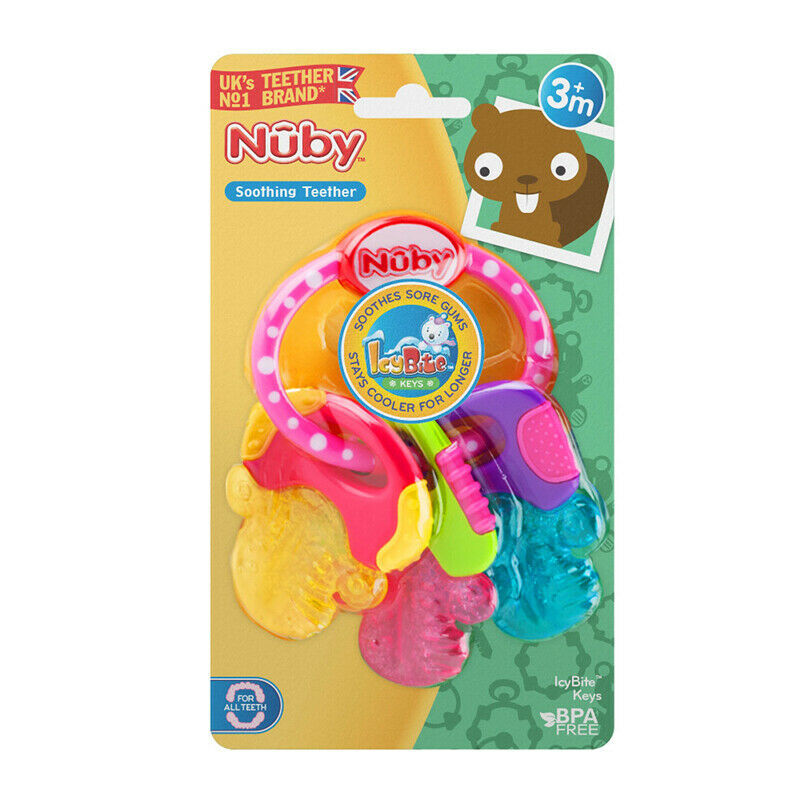 Primary image for Nuby Icy Bites Keys Teether Pink