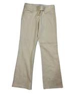 White House Black Market Women Size 6 (Meas 30x30) Cream Color Jeans Mid... - $19.80