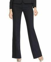 Anne Klein Platinum Slacks Pants Sz 10 Ink Multi Pin Striped Classiques ... - $41.82
