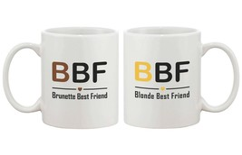 BBF Matching Coffee Mugs for Brunette and Blonde Best Friends - $24.99