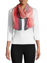 Calvin Klein Ombre Leopard Scarf (Pink) - $33.14