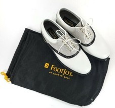 FootJoy Classics Tour 51849 Men's 8.5 D Reptile White Black Silver Golf ... - $296.01