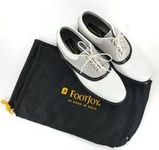 FootJoy Classics Tour 51849 Men's 8.5 D Reptile White Black Silver Golf Shoes - $296.01