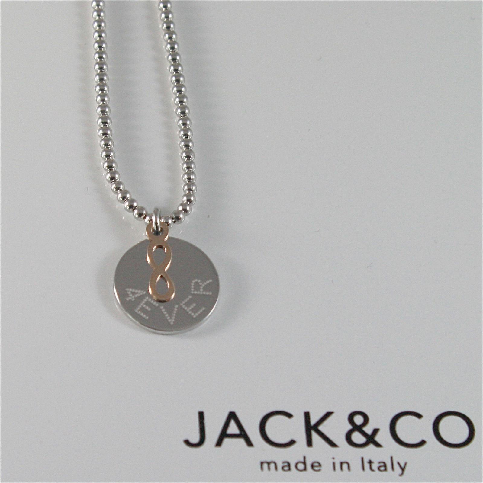 HALSKETTE A KUGELN AUS 925 SILBER JACK&CO MIT INFINITO AUS GOLD PINK 9KT JCN0548