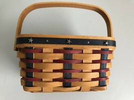 Longaberger Proudly American Tea Basket 2004 with Plastic Interior Liner - $34.16