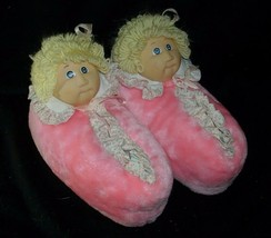 ORIGINAL VINTAGE 1984 CABBAGE PATCH KIDS PINK DOLL SLIPPERS STUFFED PLUS... - $73.87