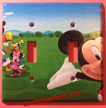 Mickey Mouse House Club Light Switch Duplex Outlet wall Cover Plate Home decor image 2