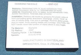 TURNTABLE STYLUS NEEDLE FOR ATN 71 ATN 70 SL7020 206-D7 Pfanstiehl 697-D7 image 3