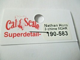 Cal Cal Scale # 190-583 Brass Nathan 3 Chime M3HR Air Horn 1 Pack HO Scale image 2
