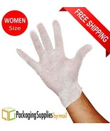 108 Pairs White Inspection Cotton Lisle Work Gloves Coin Jewelry Women's... - $1.834,54 MXN
