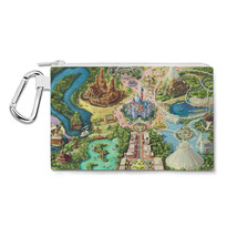 Disneyland Colorful Map Canvas Zip Pouch - $14.99+