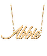 Abbie Name Necklace for Best Friends Family Girl Friend Birthday Gifts - $13.99 - $15.99