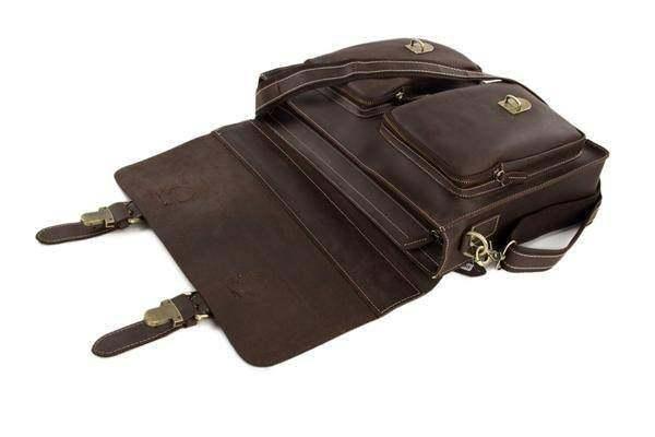 Sale, HandMade Leather Laptop Bag, Leather Briefcase, Business HandBag, Men's Me image 4