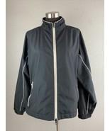 FootJoy DryJoys Womens Golf Jacket L Large Black Full Zip Pockets Waterp... - $44.54