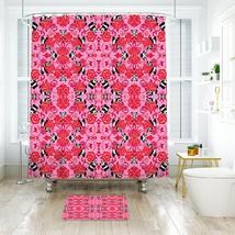Flower Lilly Alpha Omicron Pi Shower Curtain Waterproof & Bath Mat For Bathroom - $15.30+