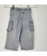 Garanimals Baby Boys Gray Cargo Pants Size 18 Months Elastic Waist GUC - $14.17