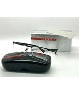 Prada Sport PS 52F DGO 101 MATTE BLACK 52-18-140MM Eyeglasses Italy NIB - $106.67