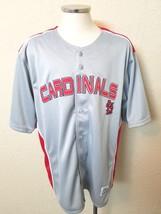 Dynasty Apparel MLB St Louis Cardinals Gray Baseball Jersey Size Large - $29.99