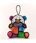 Romero Britto Festive Teddy Bear Christmas Stuffed Plush Ornament - $13.11