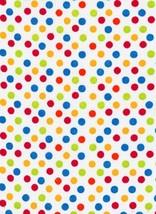 Rainbow Polka Dots White Fabric Hair Scrunchie Scrunchies by Sherry  - $6.99