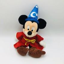 "Disney World Mickey Plush Fantasia Sorcerer Parks Stuffed Animal 14"" Wizard - $13.85"