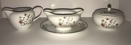 "Vintage Flair Fine China ""Blossom Time"" - Sugar Bowl, Creamer, Gravy Bowl - $30.39"