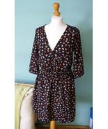 Medicine Retro style navy bird print dress, v neckline dress, boho dress - $29.99