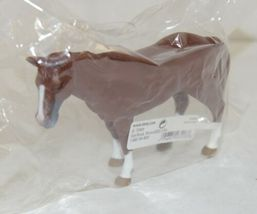 Tomy LP65088 Four Inch John Deere Solid Brown Horse White Feet Big Farm image 3