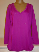 Lane Bryant Purple Long Sleeved Knit Tee Shirt Top-14/16 1X-NEW - $12.70