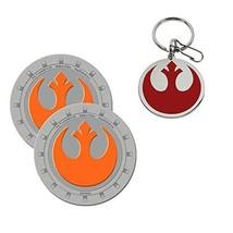 Star Wars Rebel Metal Key Ring and Car/Auto Cup Holder 2x Coaster Bundle - $14.53