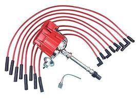 A-Team Performance Super HEI Distributor and Red 8mm Spark Plug Wires Set Straig
