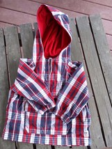 Baby Gap Boy's Jacket Size 12-18 Mos. Red White Blue Zipper Front & Fron... - $9.99
