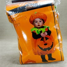 Infant Toddler Pumpkin Plush Costume w Hat Jack O' Lantern Up to 24mth H... - $14.49