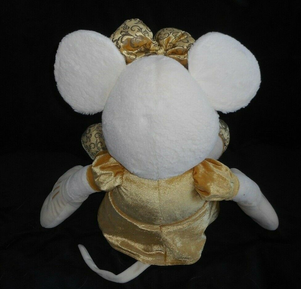 "28"" BIG DISNEY STORE GOLD & CREAM MINNIE MOUSE STUFFED ANIMAL PLUSH TOY DOLL image 4"