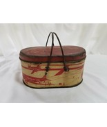 Vintage Ohio Art lunch box, tin, Airport Scene with handles - $47.03