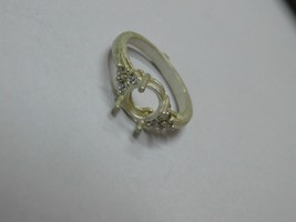 925 sterling Silver mount Ring,Round 5.0 mm, RI-0103,ring,all size avail... - $8.00